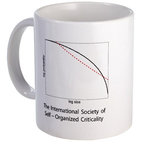 Self-Organized Criticality:  Now on a Mug!