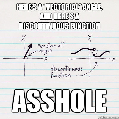 cartoon explanation of vectorial angles and discontinuous functions (found on Internet 3 August 2012)